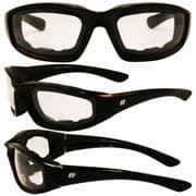 Oriole Foam Padded Sunglasses - Clear Lens for Skydiving | Motorcycling | Dry Eye | Cycling @ Specs4sports